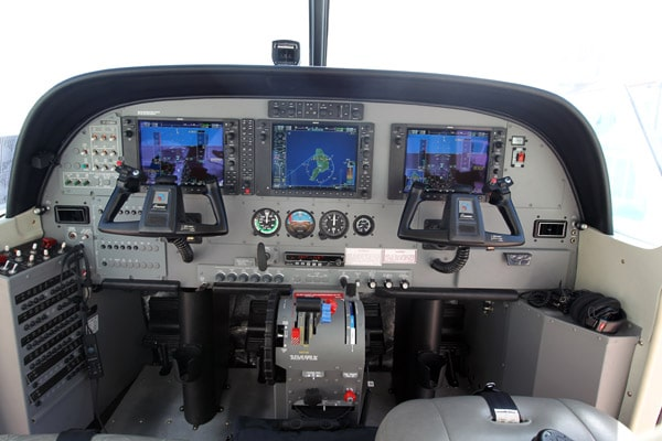 Airplane glass cockpit